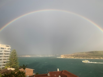 A rainbow spotted by a dear friend.